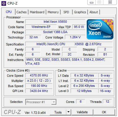Intel Xeon X5650 x2 2.66GHz (6Core 12T) LGA1366 (คู่ละ) 2